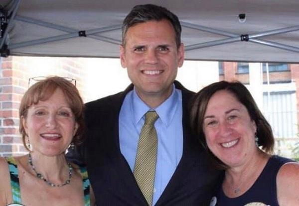 Gabriella Snyder Stelmack, Mayor Gary Christenson and BOL Development Director Patty Kelly attending the Yankee Pest Jamboree